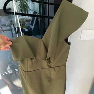 Shilla the Label Khaki Dress - Size M or 10